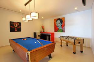 宜家风大型复式楼桌球室装修效果图
