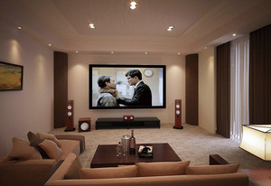 享受生活之别墅精致家庭影院装修效果图