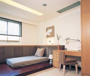 100平米温馨日式风格榻榻米卧室装修效果图