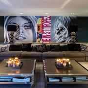 精致的别墅型欧式客厅沙发背景墙装修效果图