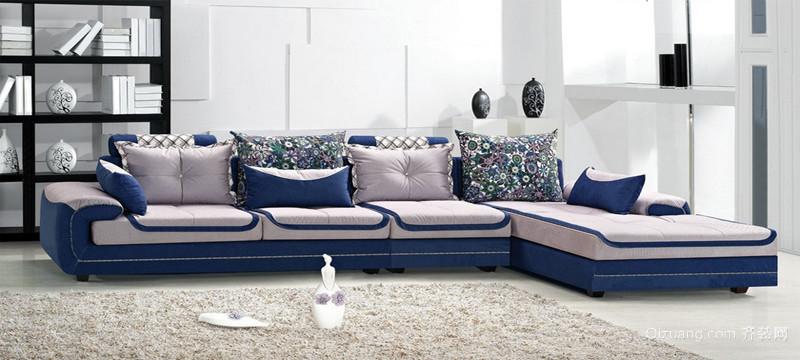 时尚现代家居客厅布艺沙发装修图片