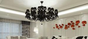 现代大户型室内欧式吊顶装修效果图实例