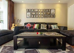 两居室客厅别致沙发背景墙装饰画效果图