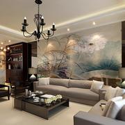 新中式风情背景墙