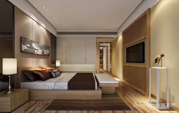 主要看气质:大户型现代卧室装修效果图