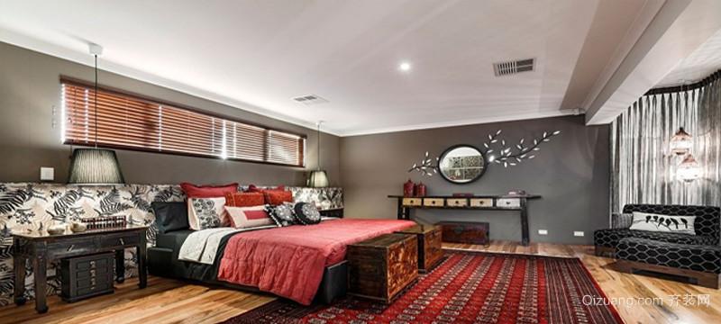 32平米东南亚风大卧室设计装修效果图