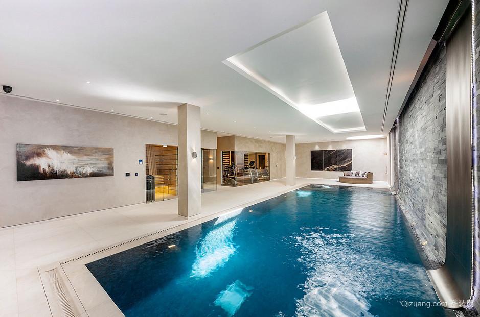 高级现代别墅室内游泳池设计效果图