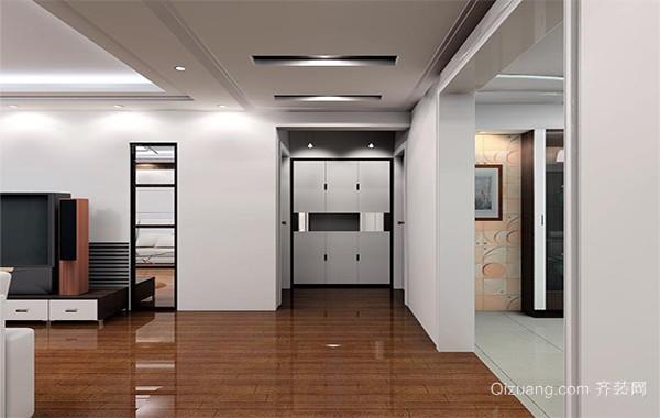 110平米大户型经典欧式客厅玄关装修效果图