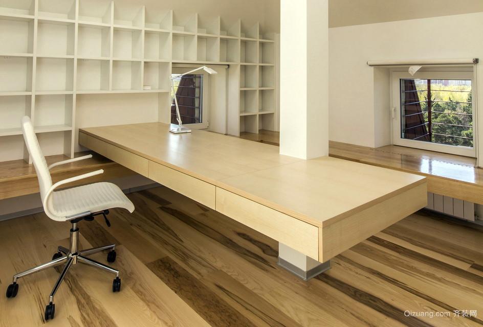 独具匠心的阁楼朴素书房装修效果图