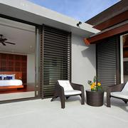 简约复式楼舒适小阳台装修设计效果图