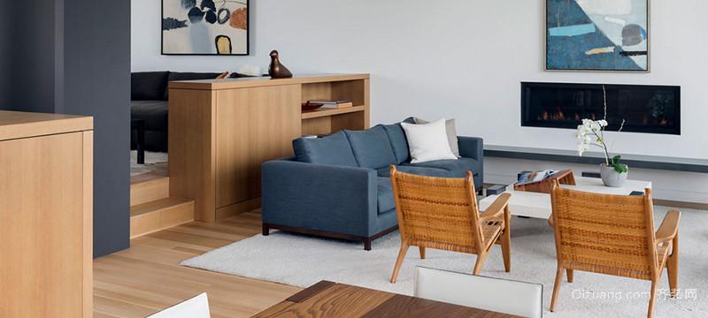三居室经典舒适简欧客厅装修效果图实例