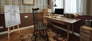 大户型唯美现代室内电脑桌设计装修效果图