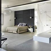 室内冷色调卧室图片