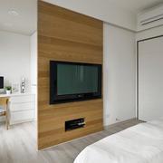 老房屋卧室电视墙展示