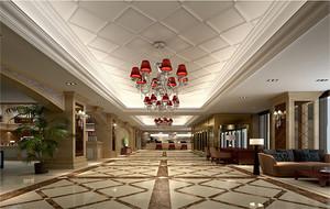 现代时尚大都市小宾馆吊顶装修效果图