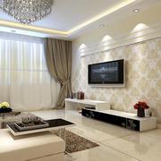 电视墙碎花壁纸欣赏