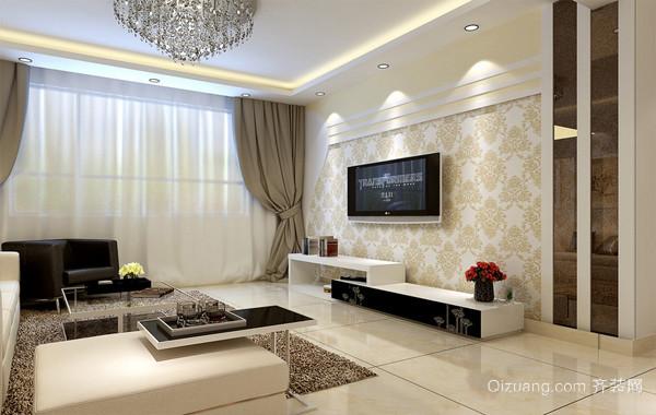 2016全新现代客厅电视背景墙装修效果图