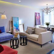 小户型客厅布艺沙发