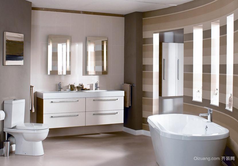 时尚浅色调6平米现代浴室装修效果图