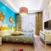 儿童房床头别致壁纸