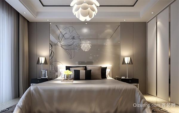 极致精美的欧式卧室床头背景墙装修效果图