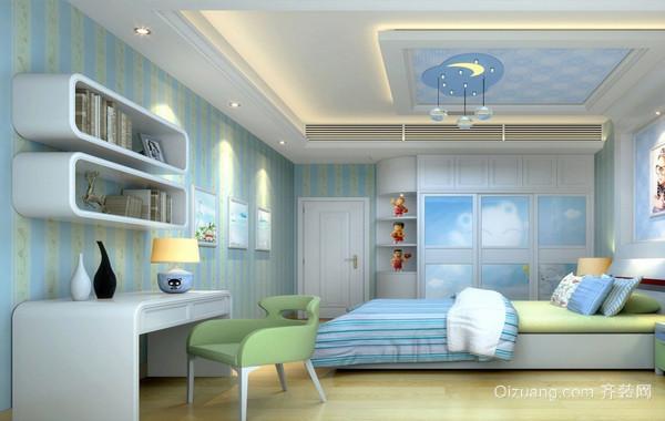 梦幻天堂 清新舒畅儿童房设计效果图