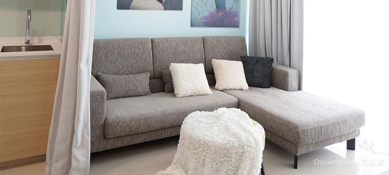 三居室现代室内沙发背景墙装修效果图实例