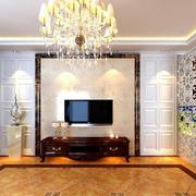 瓷砖精致电视墙