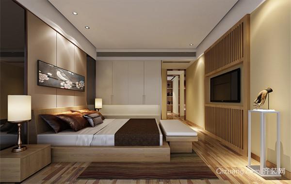 极美的三居室欧式风格卧室背景墙装修效果图