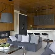 室内生态木墙面展示