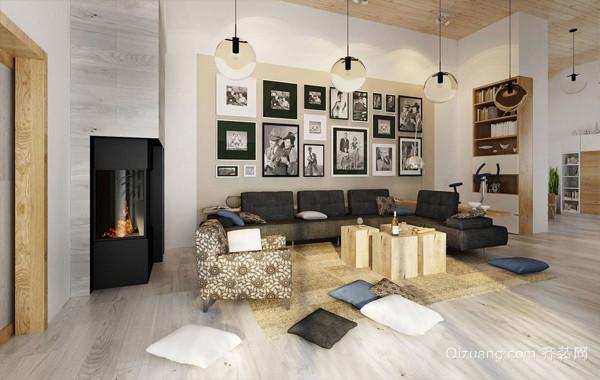 淳朴现代化小复式楼室内装修设计图