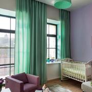 儿童房简约窗帘展示