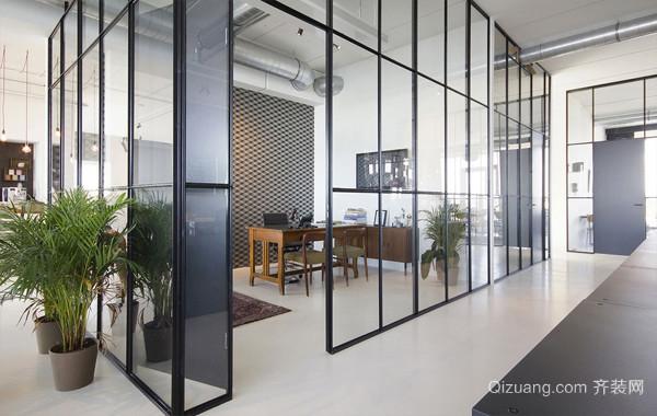 轻工业风小型工作室复式楼室内装修设计图