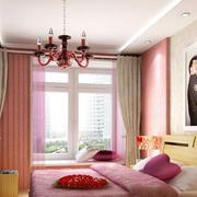 粉色甜蜜蜜现代婚房卧室装修效果图
