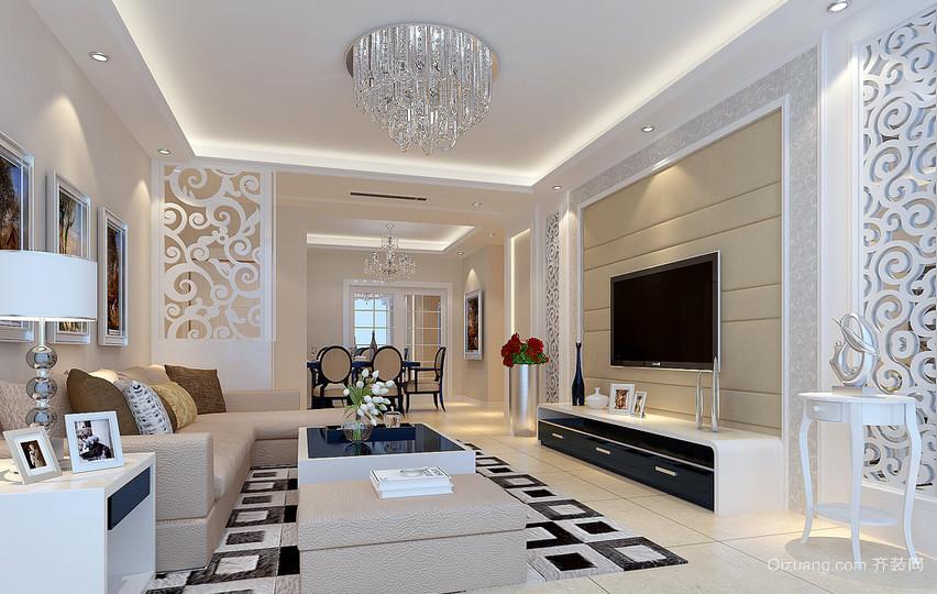 现代风格115平米家居客厅电视柜效果图