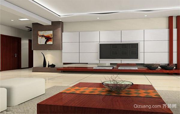 2016别墅型精致室内欧式电视柜装修效果图