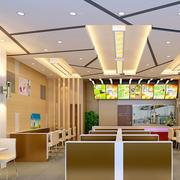 73平米都市现代快餐店吊顶装修设计图
