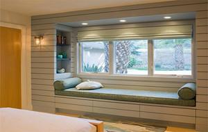 120平米大户型欧式风格卧室飘窗装修效果图