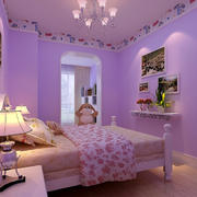 紫色浪漫儿童房图片