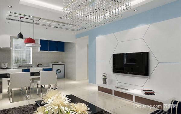 2016欧式风格客厅电视机背景墙装修效果图