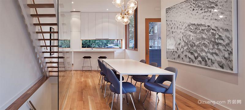 纯洁白色欧式小户型餐厅装修效果图