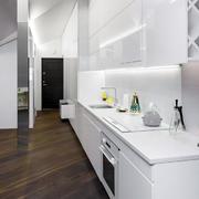 小户型开放式一字型厨房