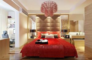 时尚别致大户型婚房卧室装修效果图