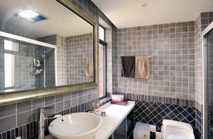 现代都市卫生间萨米特瓷砖背景墙装修效果图