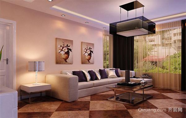 90平米客厅功能沙发背景墙装修效果图实例