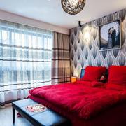 有格调的都市婚房大卧室装修效果图