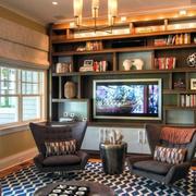 2016简美风小客厅组合电视柜效果图