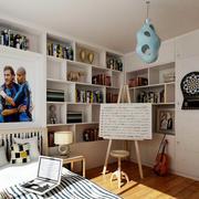 儿童房大型书柜装饰
