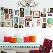 彩色鲜艳的照片墙
