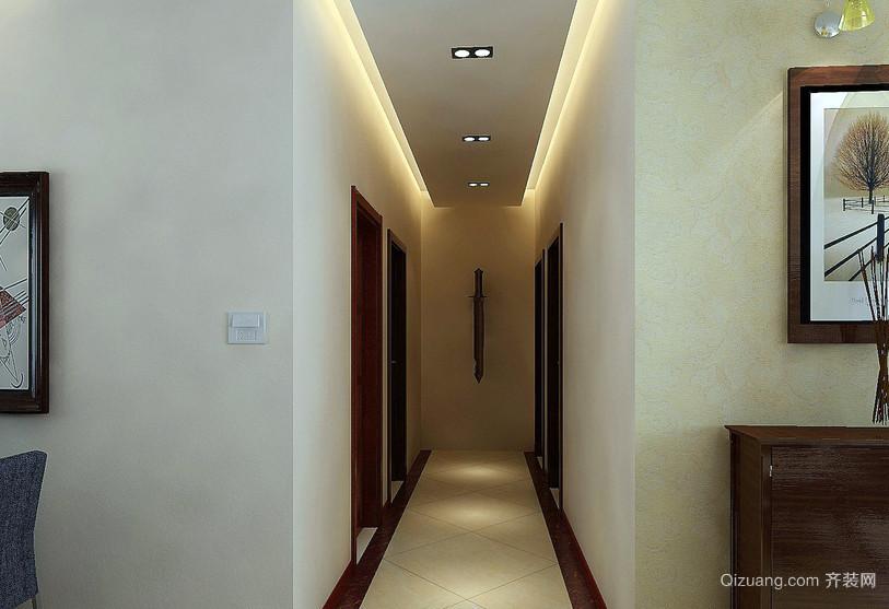 简单朴素的三居室走廊吊顶装修效果图